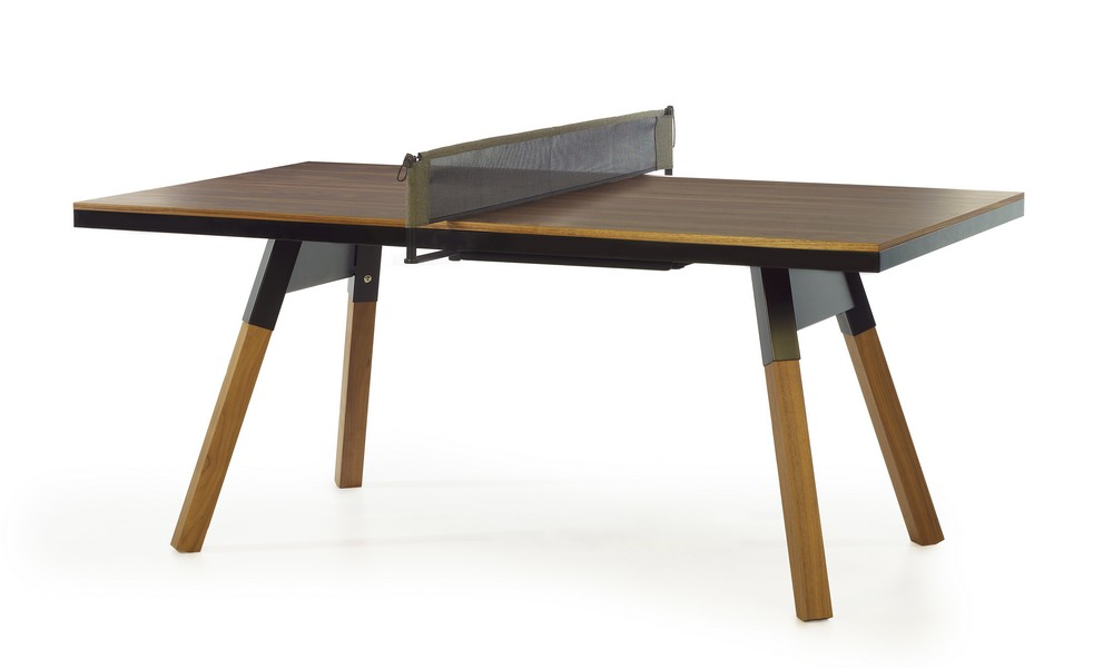 Table de ping pong convertible 180 noyer massif