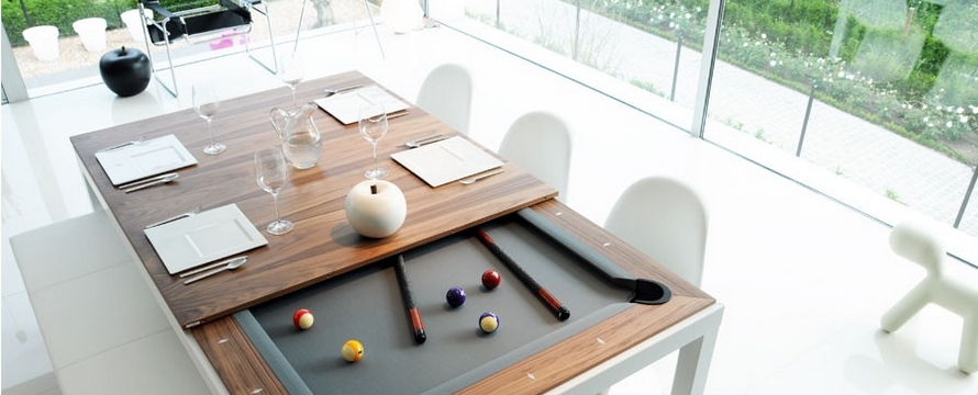 Billard convertible et transformable en table manger for Table de salle a manger et billard