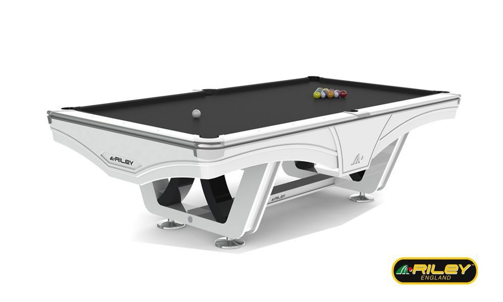 Billard Americain Design billard américain ray riley 9 ft blanc