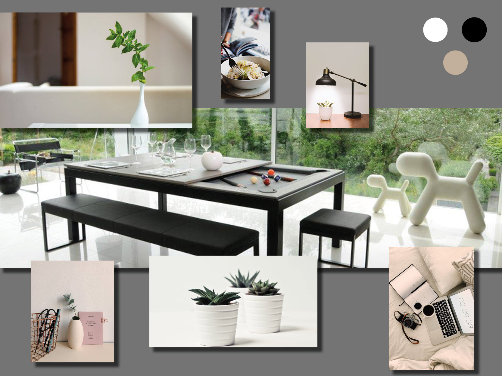 Planche tendance style moderne
