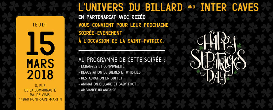 Soiree evenement saint patrick