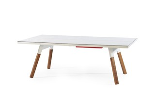 Table de ping pong convertible 180 coloris blanc