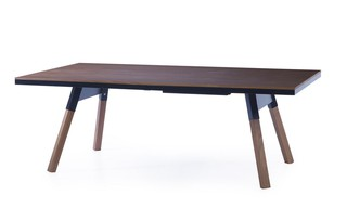 Table de ping pong convertible 220 noyer massif