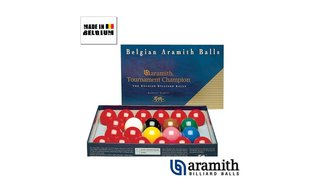 Billes Snooker Aramith 52.4 mm Tournament Champion
