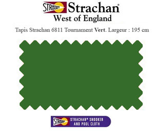 Tapis Pool Strachan 6811 Tournament WoE Vert Olive, largeur 195cm