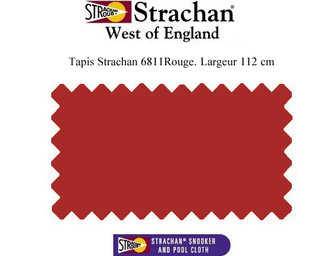 Tapis 6811 Strachan, 112 cm Rouge