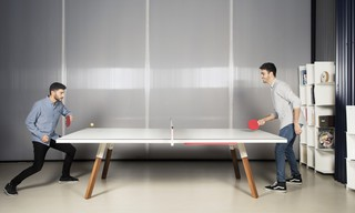 Table de ping pong convertible standard 274 coloris blanc