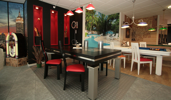 Fabricant de billard for Porte queue de billard mural design